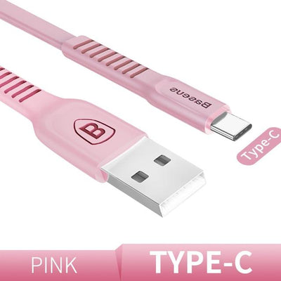 Ultra-Quick Charging Data Cable - 25cm / Type-C / Pink
