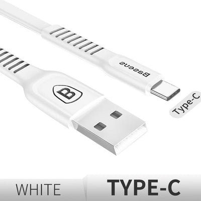 Ultra-Quick Charging Data Cable - 25cm / Type-C / White