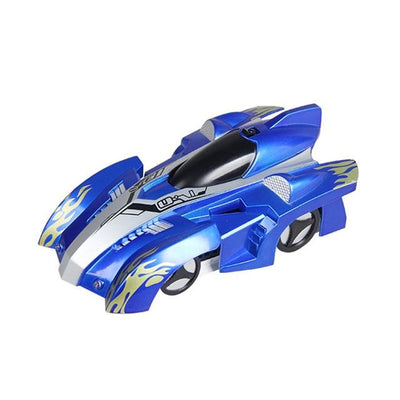 Remote Control Wall Climbing Toy Car - Black Blue