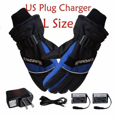 Electric Heated Gloves - US Plug Blue