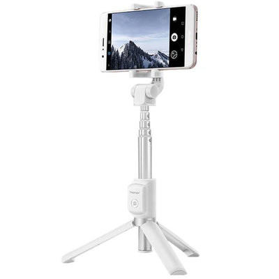 2 in 1 Selfie Stick With Tripod - White