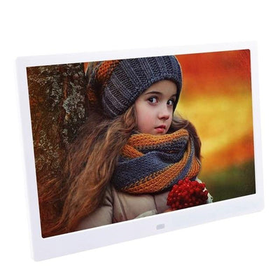HD Digital Photo Frame LED Backlit - White