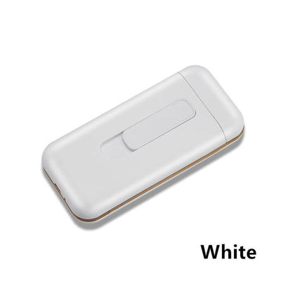 Cigarette Case With Lighter - White