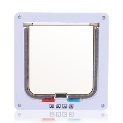 Lockable Pet Flap Door - White / S