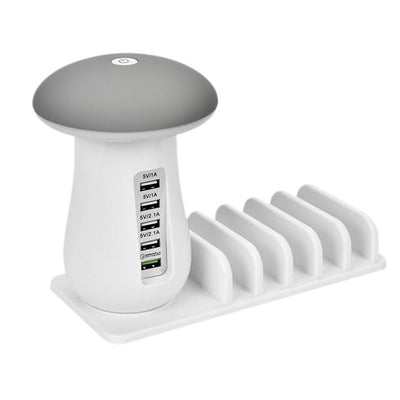 Multi-Port Fast Charging Dock & Lamp (5 Ports) - US