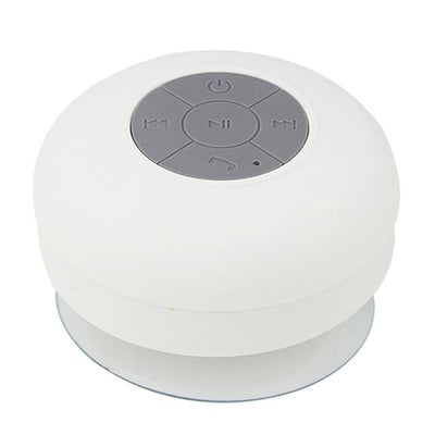 Waterproof Bluetooth Shower Speaker - White