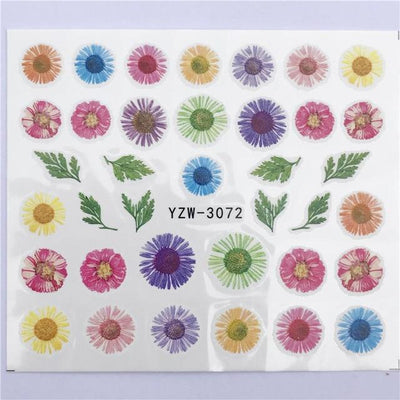 Water Transfer Decals Nail Art Sticker - YZW-3072