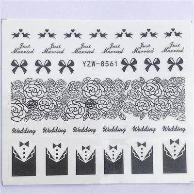 Water Transfer Decals Nail Art Sticker - YZW-8561