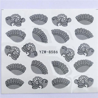 Water Transfer Decals Nail Art Sticker - YZW-8586