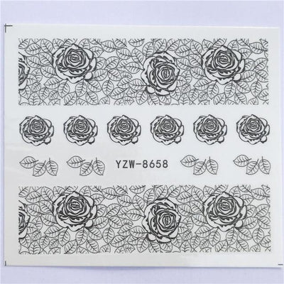 Water Transfer Decals Nail Art Sticker - YZW-8658