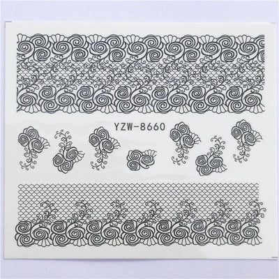 Water Transfer Decals Nail Art Sticker - YZW-8660
