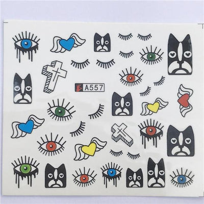 Water Transfer Decals Nail Art Sticker - YZW-A557