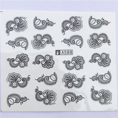 Water Transfer Decals Nail Art Sticker - YZW-A588