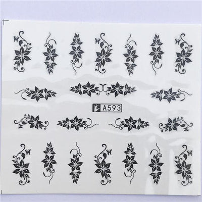 Water Transfer Decals Nail Art Sticker - YZW-A593