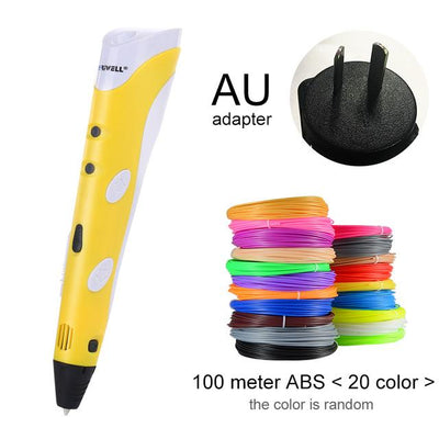 3D Doodler Printing Pen - Yellow AU-100m ABS
