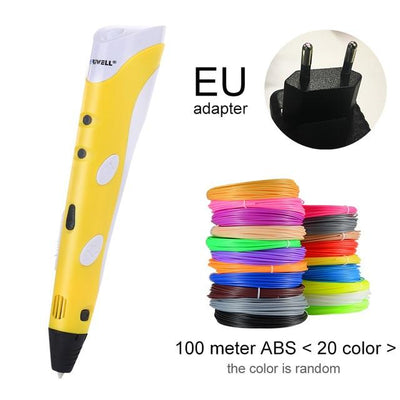 3D Doodler Printing Pen - Yellow EU-100m ABS