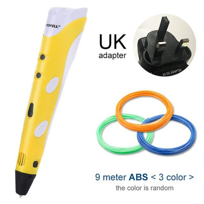 3D Doodler Printing Pen - Yellow UK