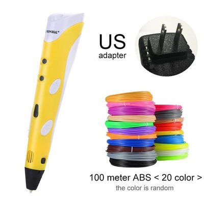3D Doodler Printing Pen - Yellow US-100m ABS