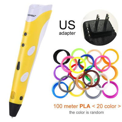 3D Doodler Printing Pen - Yellow US-100m PLA