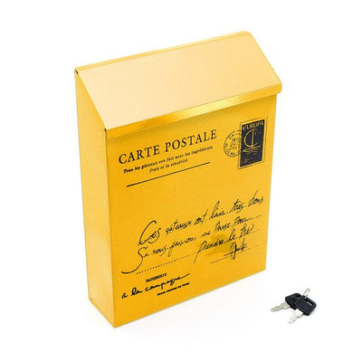 Personal Wall Mount Mailbox - Yellow