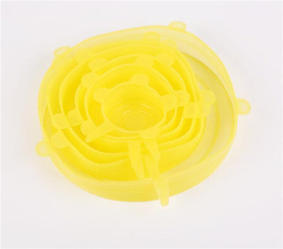 Stretch & Fit - Silicone Stretch Lids (6pcs) - Yellow