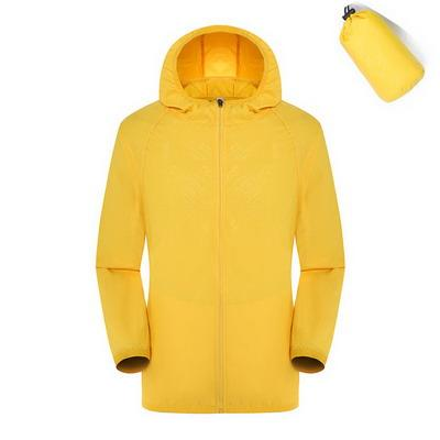 Quick Dry Waterproof  Hiking Jacket - Yellow / S