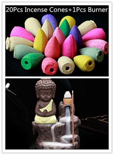 Incense Cones + Burner - Yellow with 20Incens
