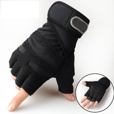 Gym Gloves - Black / M