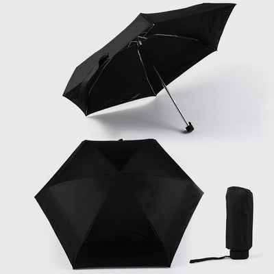 Anti-UV Waterproof Mini Umbrella - Black