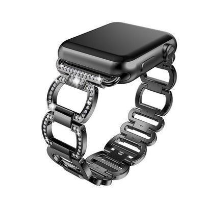 38mm/42mm  Rhinestone Diamond Apple Watch Band - black / 38mm