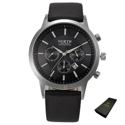 Sports Quartz Wristwatch - Black + Box