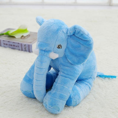Plush Stuffed Elephant Toy - Blue