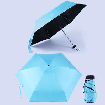 Anti-UV Waterproof Mini Umbrella - Blue