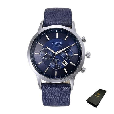 Sports Quartz Wristwatch - Blue+ Box