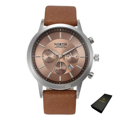 Sports Quartz Wristwatch - Brown + Box
