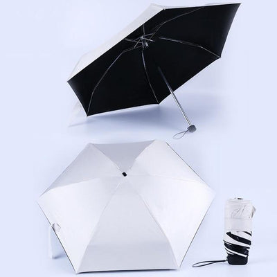 Anti-UV Waterproof Mini Umbrella - Creamy White