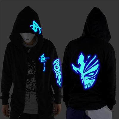 Blue Rave Ghost Hoodie - death / XXS