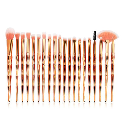 20pcs Diamond Makeup Brushes - gold