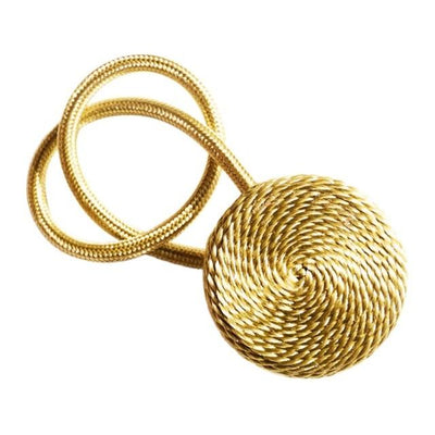 Magnetic Buckle Curtain Tieback - gold / 40-45cm