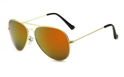 Unisex Polarized Sunglasses - Gold Orange
