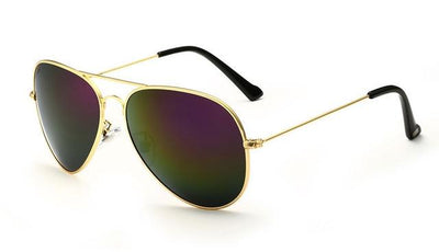 Unisex Polarized Sunglasses - Gold Purple
