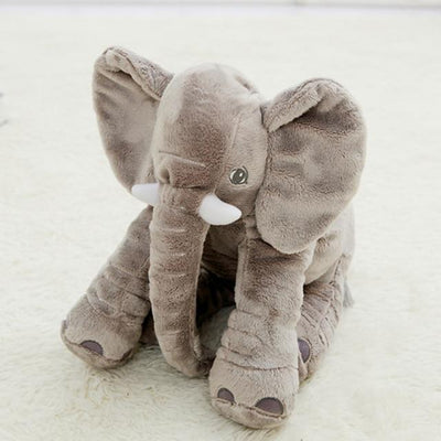 Plush Stuffed Elephant Toy - Gray