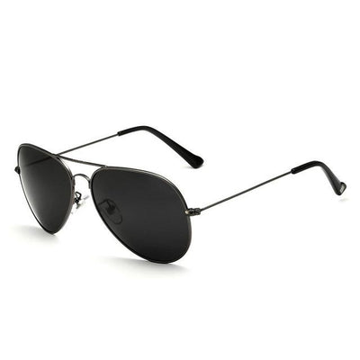 Unisex Polarized Sunglasses - Grey Black