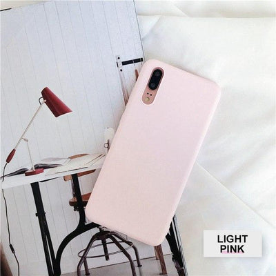 Silicone Huawei Flip Case - Light Pink / Honor 9 lite