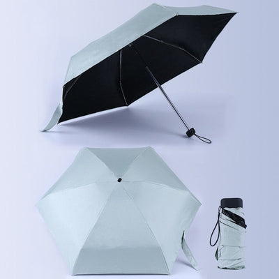 Anti-UV Waterproof Mini Umbrella - Light Green