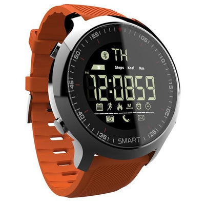 Sports Bluetooth Digital Watch - Orange