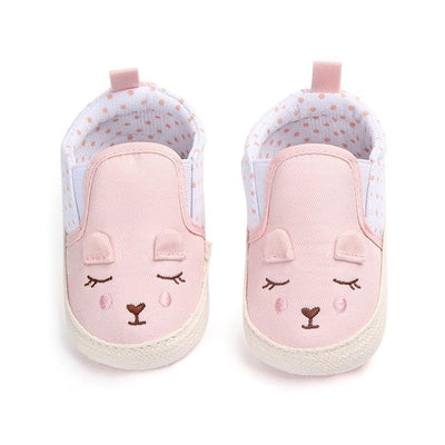 Animal Pattern Baby Shoes - Pink / 0-6 Months