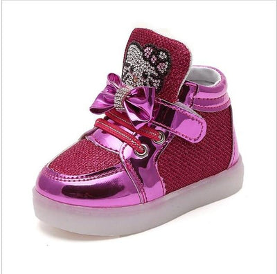 Children's Fashionable Luminous Sneakers - photo color5 / 5.5