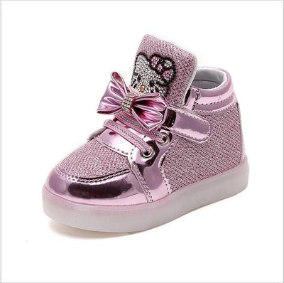 Children's Fashionable Luminous Sneakers - photo color / 5.5