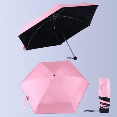 Anti-UV Waterproof Mini Umbrella - Pink
